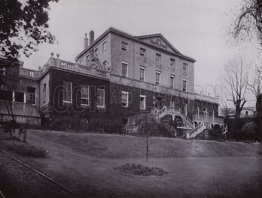 Clifton Hill House, dated 1747, now one of the Residential Colleges for Women. Illustration for University of Bristol 1925 (J W Arrowsmith, 1925).  Photographs are credited to F Beech Williams and F Bromhead (1).