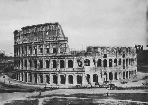 Il Colosseo a Anfiteatro Flavio, Esterno. Illustration for Ricordo di Roma (np, c 1910).  Gravure printed.