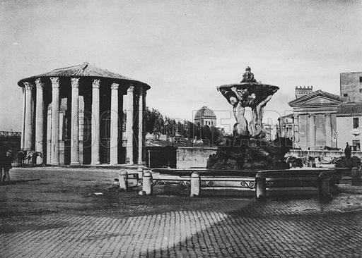 Tempio di Vesta. Illustration for Ricordo di Roma (np, c 1910).  Gravure printed.