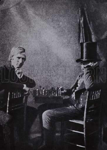 The Chess Players, about 1840. Illustration for Victoria Photography by Alex Strasser (1942).