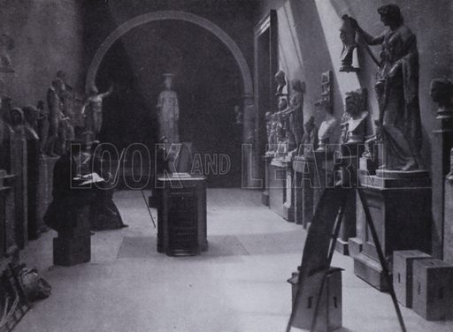 In the British Museum, about 1860. Illustration for Victoria Photography by Alex Strasser (1942).