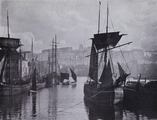 Whitby Dock, 1880. Illustration for Victoria Photography by Alex Strasser (1942).
