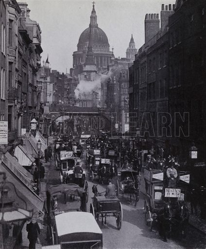 Fleet Street, about 1895. Illustration for Victoria Photography by Alex Strasser (1942).