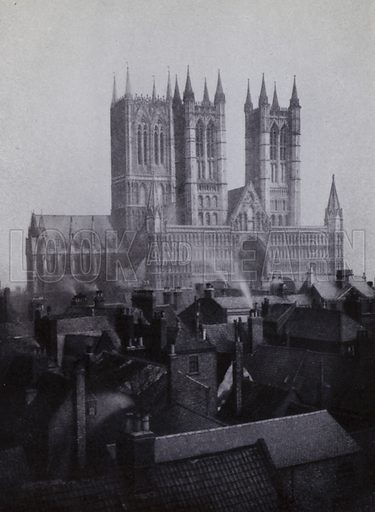 Lincoln Cathedral, 1898. Illustration for Victoria Photography by Alex Strasser (1942).