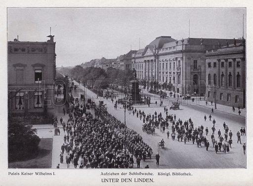 Unter den Linden. Illustration for Album von Berlin (Globus Verlag, c 1913).