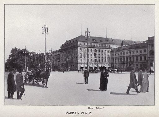Pariser Platz. Illustration for Album von Berlin (Globus Verlag, c 1913).