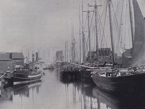 Owen Sound Harbor. Illustration for Canada, Photographic Views of Our Country (Art Company, c 1895).