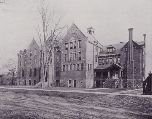 Wycliffe College, Toronto. Illustration for Canada, Photographic Views of Our Country (Art Company, c 1895).