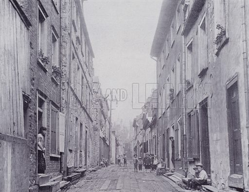Little Champlain Street, Quebec. Illustration for Canada, Photographic Views of Our Country (Art Company, c 1895).