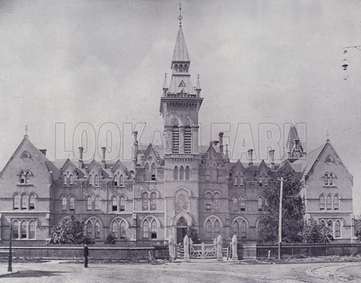 Knox College, Toronto. Illustration for Canada, Photographic Views of Our Country (Art Company, c 1895).