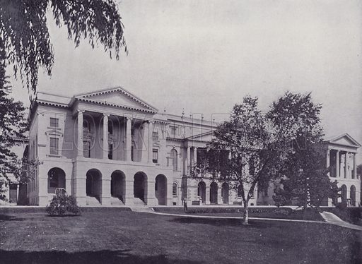 Osgoode Hall, Toronto. Illustration for Canada, Photographic Views of Our Country (Art Company, c 1895).