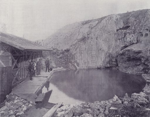 The Basin, Hot Springs, Banff. Illustration for Canada, Photographic Views of Our Country (Art Company, c 1895).