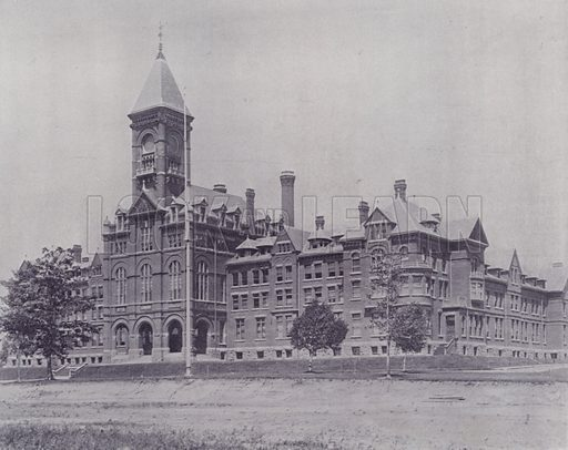 Upper Canada College, Toronto. Illustration for Canada, Photographic Views of Our Country (Art Company, c 1895).