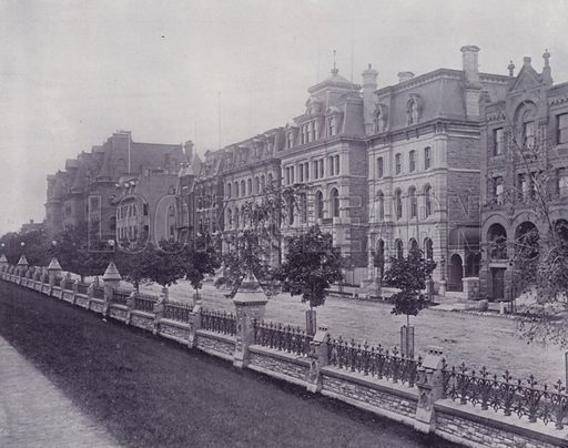 Wellington Street, Ottawa. Illustration for Canada, Photographic Views of Our Country (Art Company, c 1895).