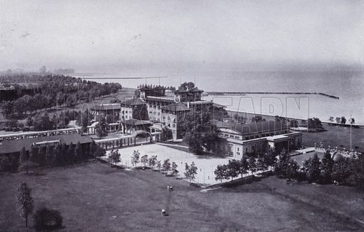 South Shore Country Club. Illustration for Chicago, The Wonder City (2nd edn, Horder, 1930).  At the back of the book, credit for the photographs is given to: Chicago Aerial Survey Co, Chicago Architectural Photographing Co, Kaufmann & Fabry Co.