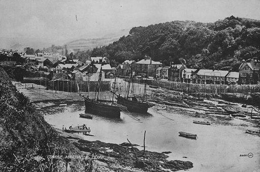 Combe Martin, Englewood Cliffs. Illustration for Views of Combe Martin (Valentine, c 1895).  Gravure printed.