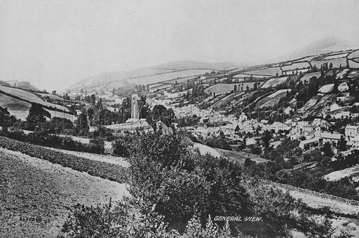 General view. Illustration for Views of Combe Martin (Valentine, c 1895).  Gravure printed.