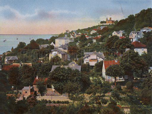 Blankenese. Illustration for a souvenir album of coloured photos of Hamburg (Gerhard Blumlein, c 1914).