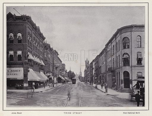 Third Street. Illustration for a booklet of photographic views, Jamestown and its Surroundings (S H Knox, c 1900).