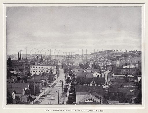 The Manufacturing District. Illustration for a booklet of photographic views, Jamestown and its Surroundings (S H Knox, c 1900).