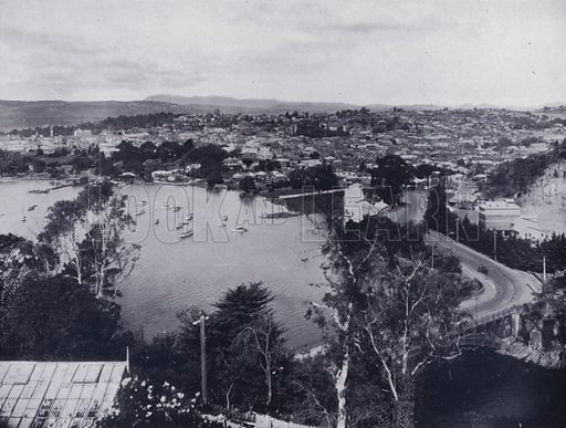 A Section of Launceston from Trevallyn. Illustration for Picturesque Launceston and Surrounding Tourist Resorts, photographed by S Spurling (Spurling, c 1915).