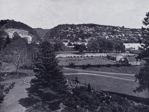 A Riverside Reserve, The Royal Park. Illustration for Picturesque Launceston and Surrounding Tourist Resorts, photographed by S Spurling (Spurling, c 1915).