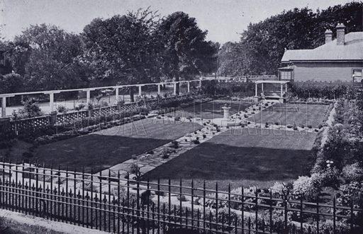 The Dutch Garden, City Park. Illustration for Picturesque Launceston and Surrounding Tourist Resorts, photographed by S Spurling (Spurling, c 1915).