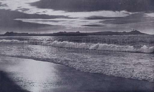 Low Head, at entrance to River Tamar, from East Beach. Illustration for Picturesque Launceston and Surrounding Tourist Resorts, photographed by S Spurling (Spurling, c 1915).