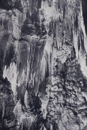 The Proscenium, King Solomon's Caves, Mole Creek. Illustration for Picturesque Launceston and Surrounding Tourist Resorts, photographed by S Spurling (Spurling, c 1915).