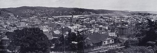 Panorama of Launceston from Welman Street. Illustration for Picturesque Launceston and Surrounding Tourist Resorts, photographed by S Spurling (Spurling, c 1915).