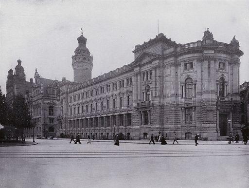 Deutsche Bank. Illustration for Album von Leipzig (Globus Verlag, c 1912).  Photos appear to be c 1900, ie earlier than the date of the publication.