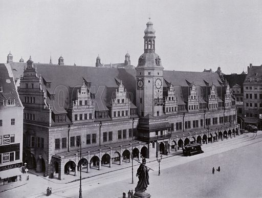 Altes Rathaus. Illustration for Album von Leipzig (Globus Verlag, c 1912).  Photos appear to be c 1900, ie earlier than the date of the publication.