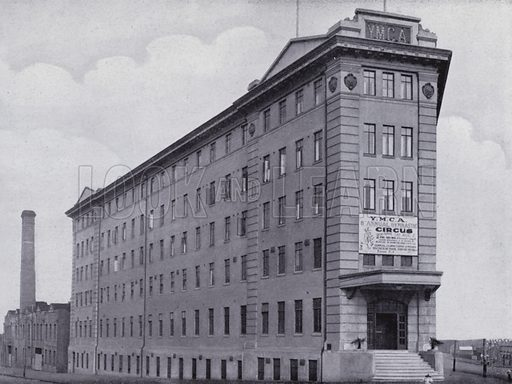 YMCA Bulding. Illustration for a souvenir booklet on Melbourne, Australia (Artistic Arts, c 1915).  Photos unless indicated credited to Darge Studios.