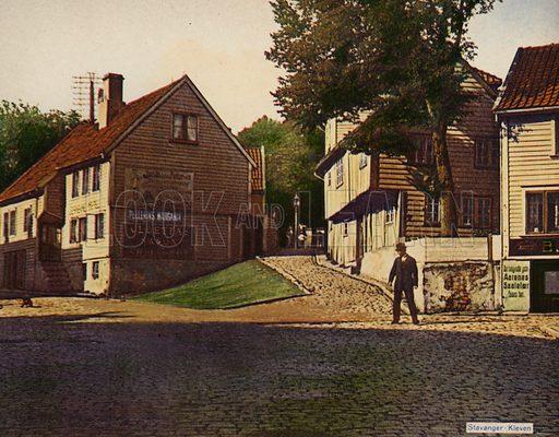 Stavanger-Kleven. Illustration for a souvenir booklet about Stavanger, Norway (np, c 1910).