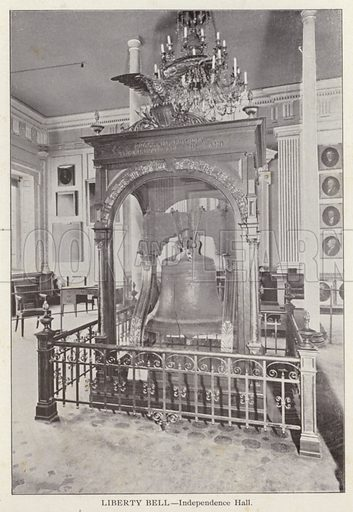 Liberty Bell, Independence Hall. Illustration for Fifty Glimpses of Philadelphia and Vicinity (Rand McNally, 1898).
