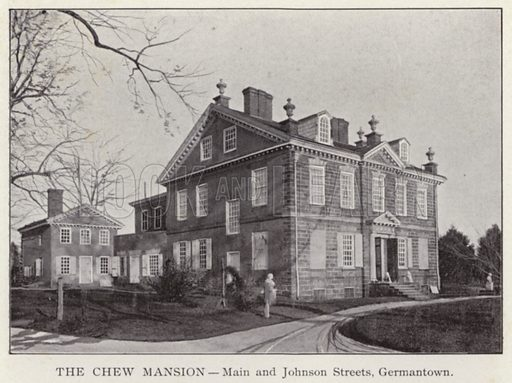 The Chew Mansion, Main and Johnson Streets, Germantown. Illustration for Fifty Glimpses of Philadelphia and Vicinity (Rand McNally, 1898).