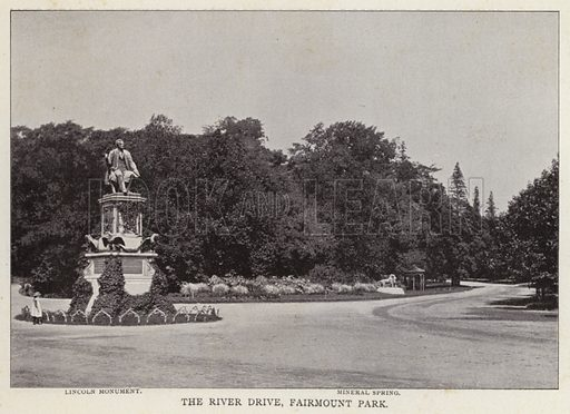 The River Drive, Fairmount Park. Illustration for Fifty Glimpses of Philadelphia and Vicinity (Rand McNally, 1898).