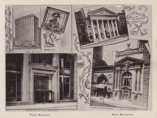 Frick Building; Bank Buildings. Illustration for Souvenir of Pittsburgh, Pa (np, c 1895).