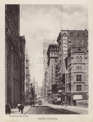 Fifth Avenue. Illustration for Souvenir of Pittsburgh, Pa (np, c 1895).