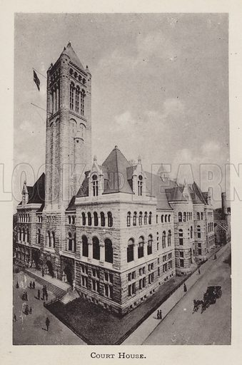 Court House. Illustration for Souvenir of Pittsburgh, Pa (np, c 1895).