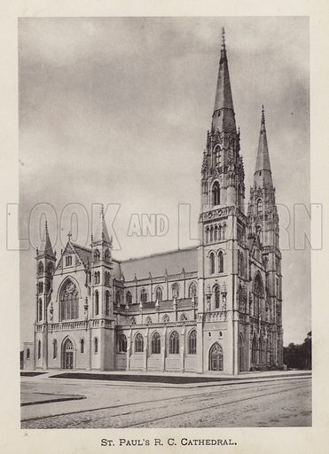 St Paul's RC Cathedral. Illustration for Souvenir of Pittsburgh, Pa (np, c 1895).