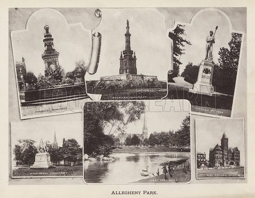 Allegheny Park. Illustration for Souvenir of Pittsburgh, Pa (np, c 1895).