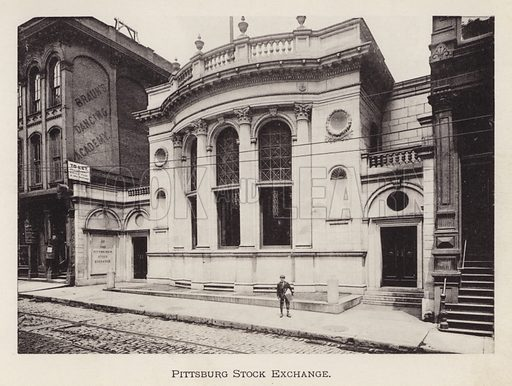 Pittsburg Stock Exchange. Illustration for Souvenir of Pittsburgh, Pa (np, c 1895).