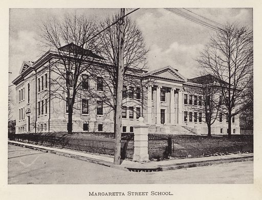 Margaretta Street School. Illustration for Souvenir of Pittsburgh, Pa (np, c 1895).