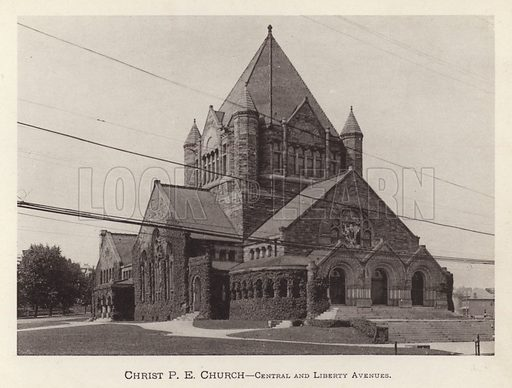 Christ P E Church, Central and Liberty Avenues. Illustration for Souvenir of Pittsburgh, Pa (np, c 1895).