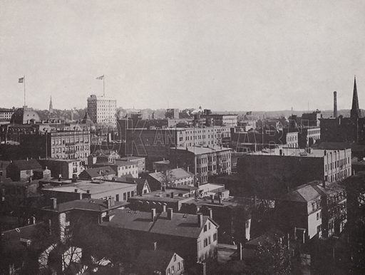 Panorama from the Manufacturers' Building. Illustration for Souvenir of Providence (F M Kirby, c 1902).
