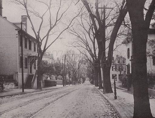 Angel Street. Illustration for Souvenir of Providence (F M Kirby, c 1902).