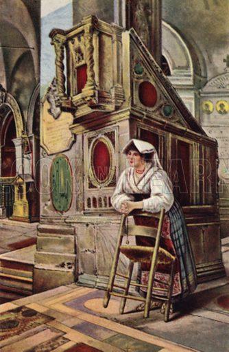 Ciociara. Illustration for Ricordo di Roma (Scrocchi, c 1910).  Signatures on pictures illegible.