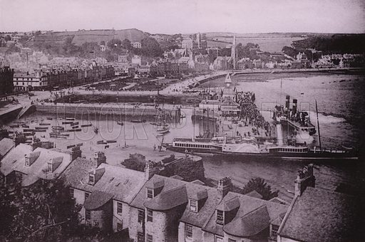 West Bay, Rothesay. Illustration for Photographic View Album of Rothesay and Vicinity, Island of Bute (Hector Mackinnon, c 1895).  Gravure printed.