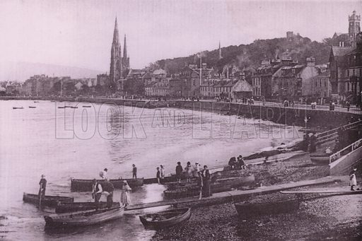 Rothesay. Illustration for Photographic View Album of Rothesay and Vicinity, Island of Bute (Hector Mackinnon, c 1895).  Gravure printed.
